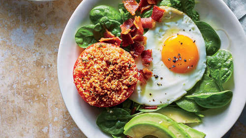Breakfast Bowl with Tomato, Avocado, and Egg