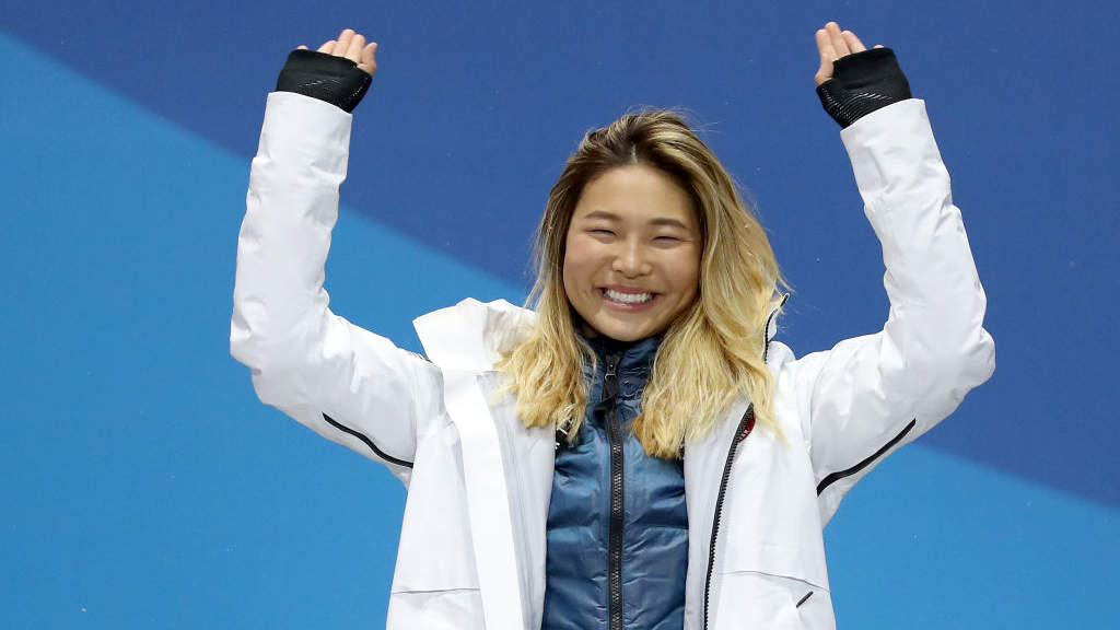 Chloe Kim's dad brought a homemade sign to the Olympics