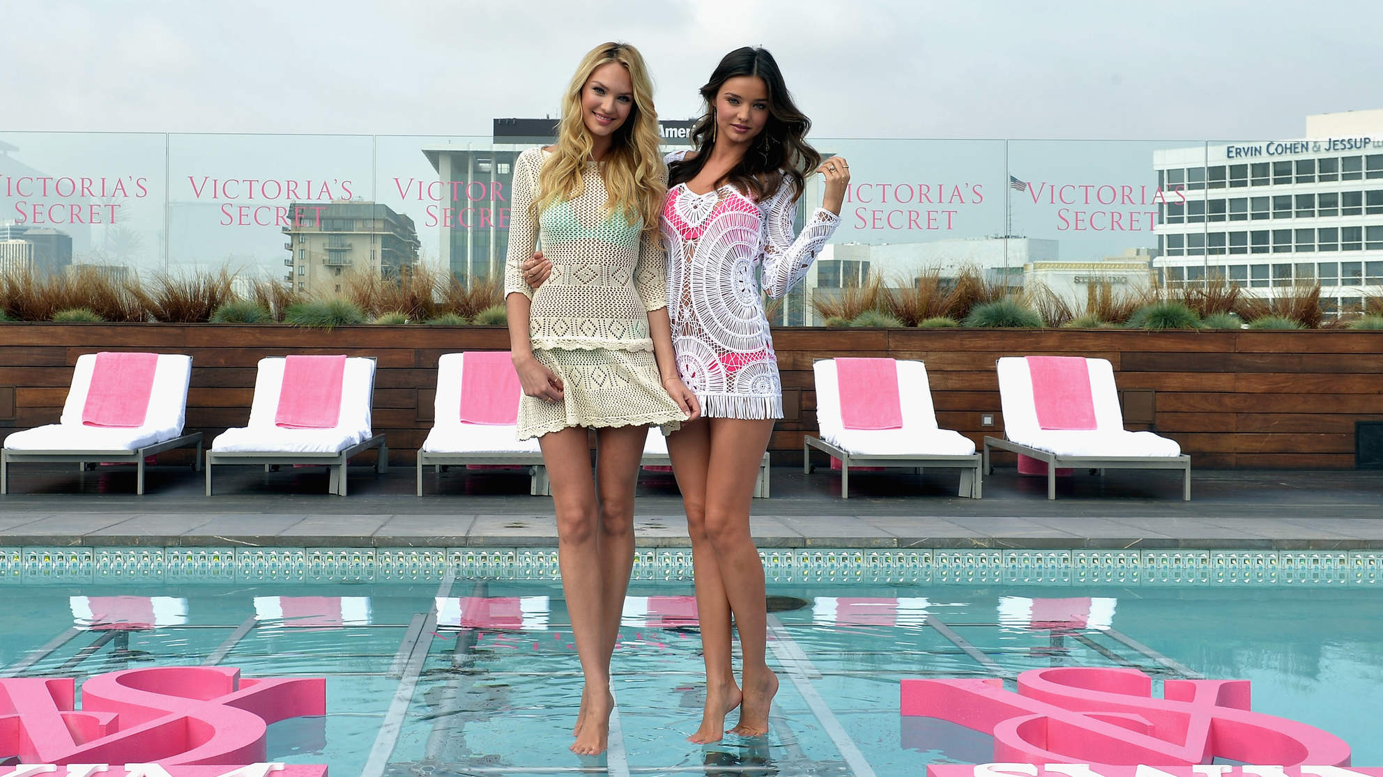 Victoria's Secret Angels Miranda Kerr and Candice Swanepoel Launch The 2012 VS Swim Collection