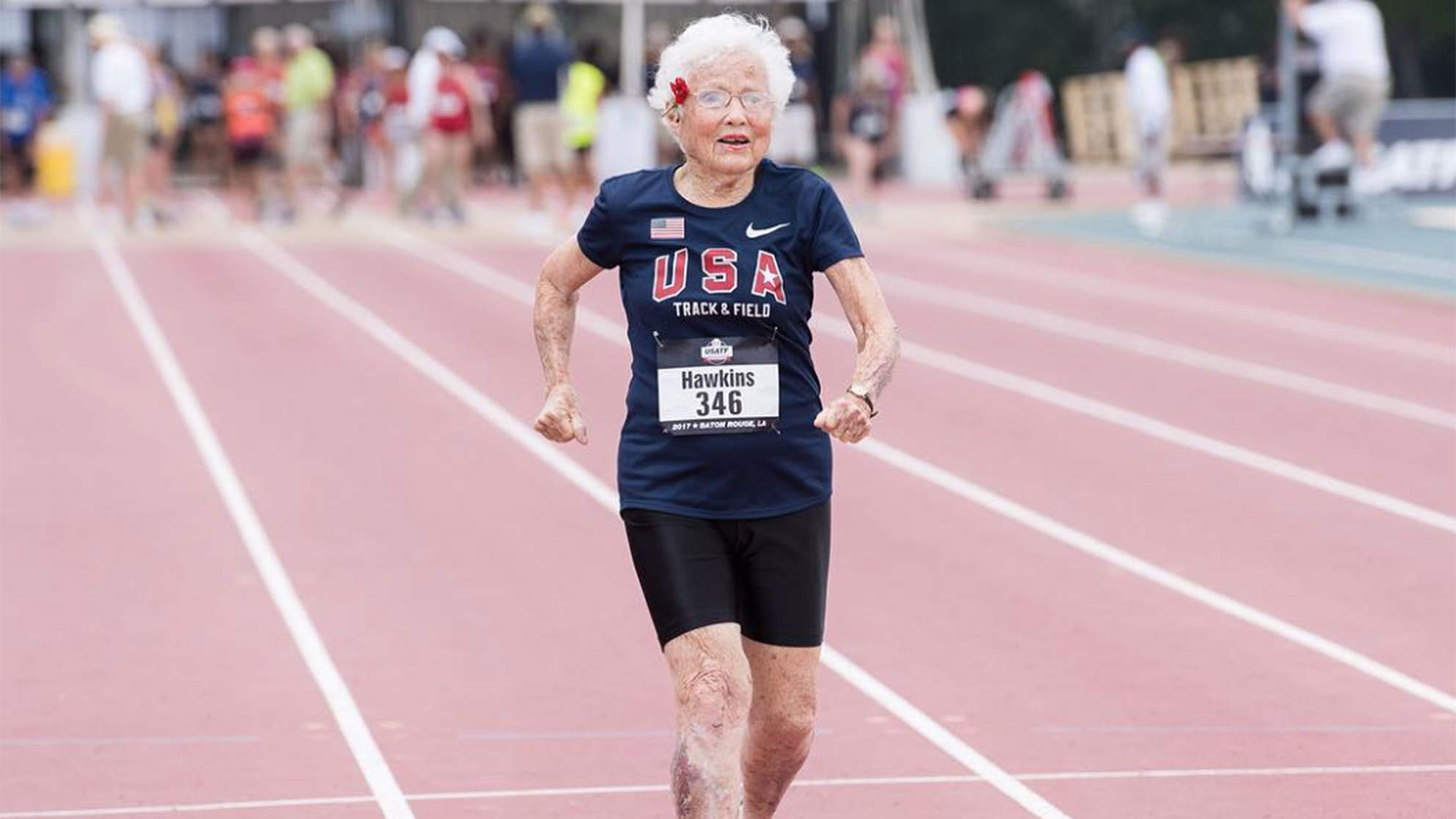 101-Year-Old Woman Breaks 100-Meter Record for Her Age Group -- and Only Started Racing Last Year