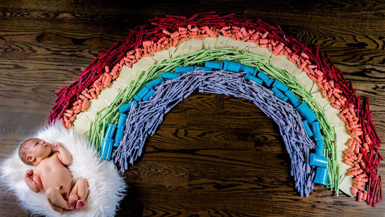 Mom Creates Stunning Tribute to Rainbow Baby Using Items From Her IVF Journey