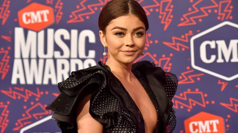 Sarah Hyland on the CMT Awards red carpet