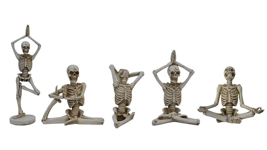 Yoga Skeleton Halloween Decorations at Michaels
