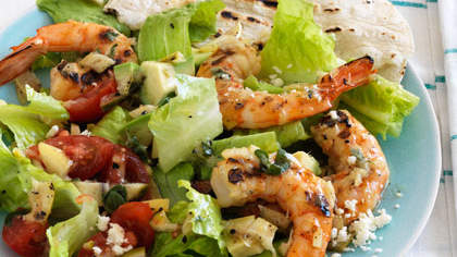 Chopped Taco Salad With Shrimp