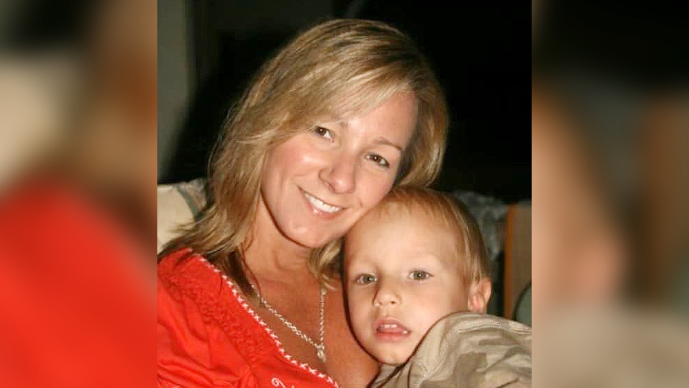Audra Eaker, pictured with her son Kincaid, who needs a kidney that his murdered mom was going to provide.