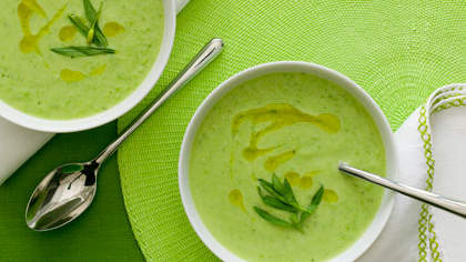 avocado-pea-soup-herb-oil