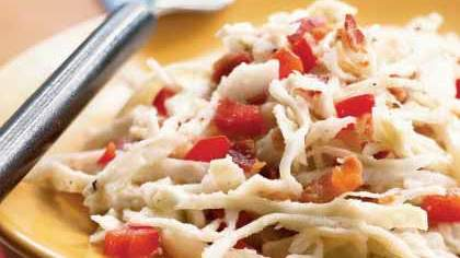 Warm Cabbage Salad with Bacon and Blue Cheese