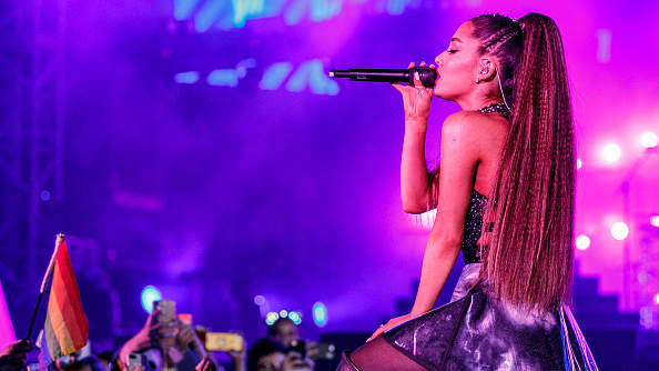Ariana Grande performs onstage during the 2018 iHeartRadio Wango Tango by AT&T at Banc of California Stadium