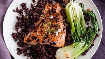 gingered-salmon-black-rice