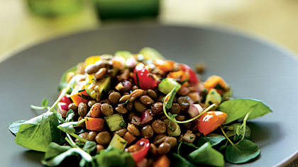 Lentil Salad with Tomatoes and Watercress