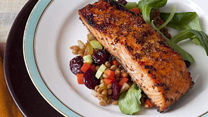 glazed-salmon-wheat-berries