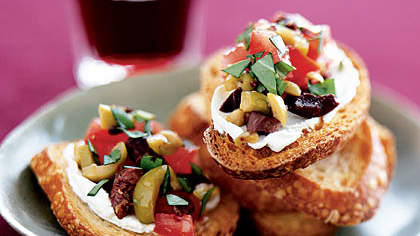 olive-cheese-bruschetta
