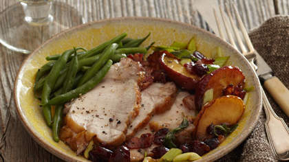 Pork Loin With Apple-Cranberry Chutney