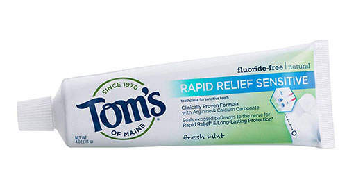 Tom's of Maine Natural Rapid Relief Sensitive Toothpaste