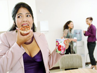 woman-eating-donut