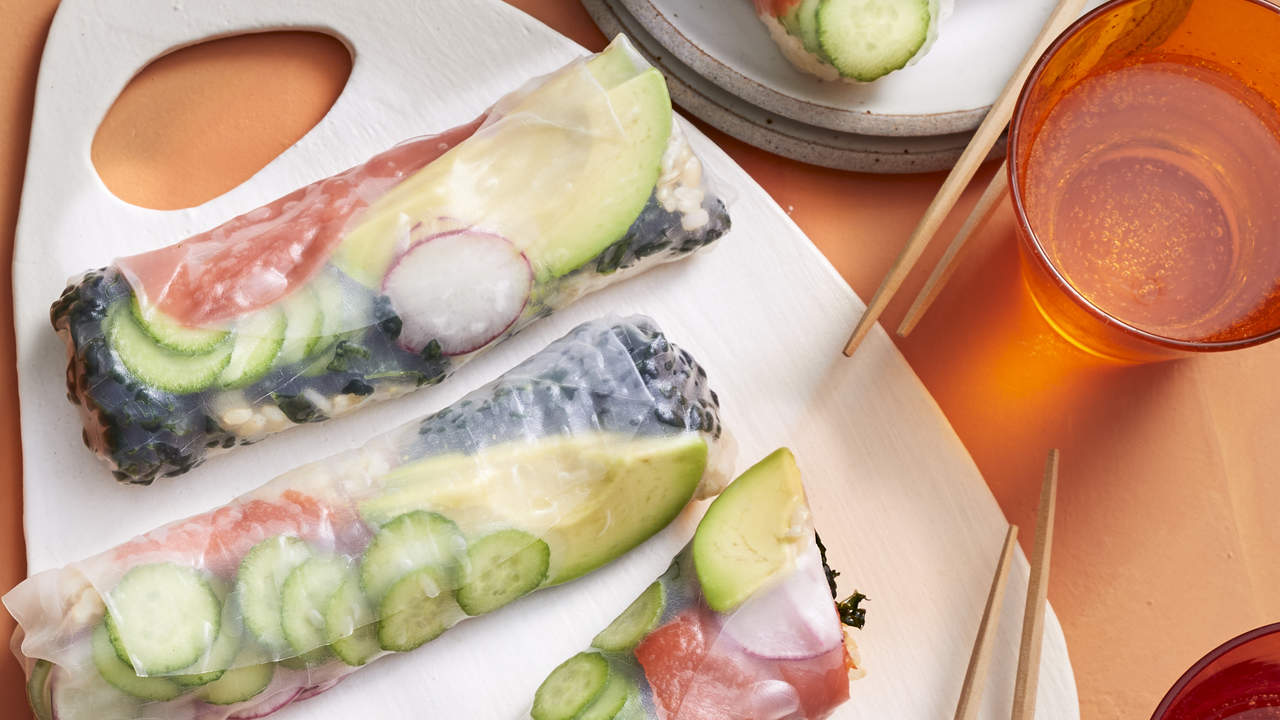 How To Make Salmon-Kale Summer Rolls