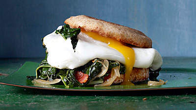 BaconandEgg Sandwiches with Greens