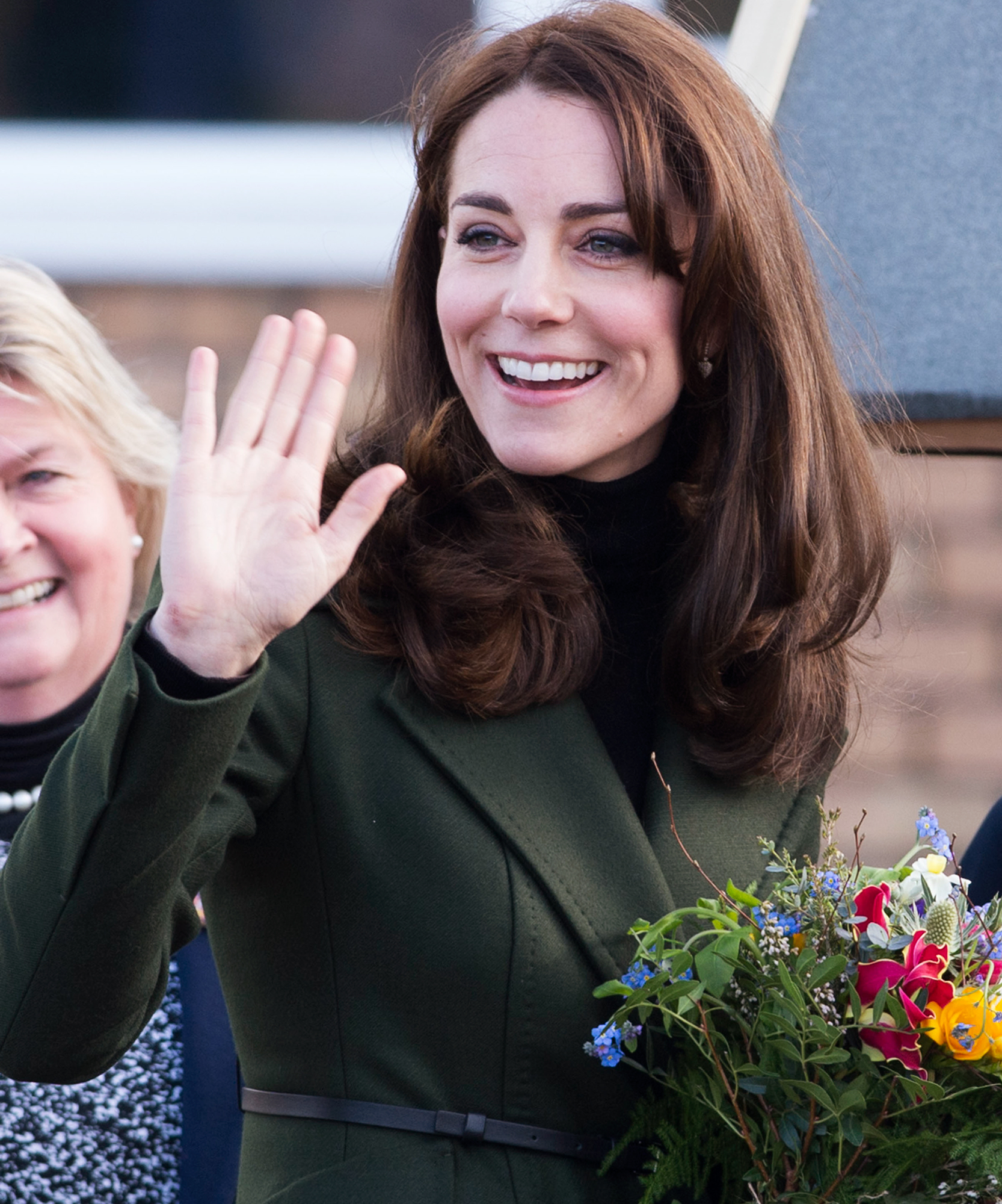 Catherine, Duchess of Cambridge, Royal Patron of Place2Be, visits St Catherine's Primary School on February 24, 2016 in Edinburgh, Scotland.