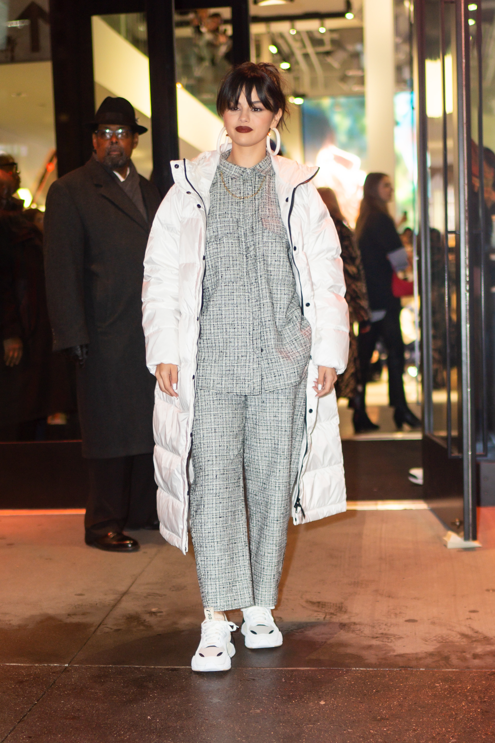 Selena Gomez Wears Everlane Re:Down Sleeping Bag Puffer