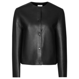 Reiss Bonded leather jacket