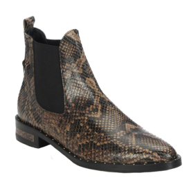 Sleek Snake-Embossed Leather Chelsea Boots