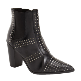 Studded Pointy-Toe Boots