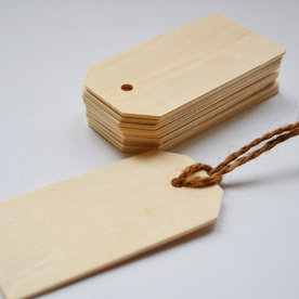 Hercy Bercy Blank Wooden Gift Tags