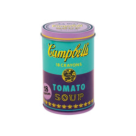 Mudpuppy Andy Warhol Soup Can Crayon Set