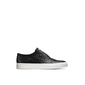 Nelson python-embossed leather sneakers