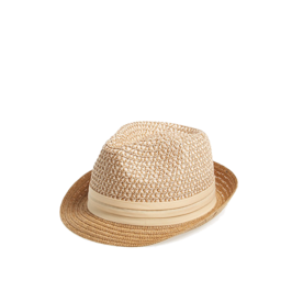 Two-Tone Straw Fedora