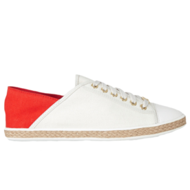Michael Michael Kors Kristy leather-paneled canvas sneakers