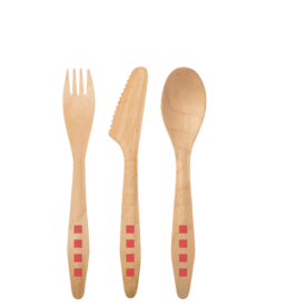 Susty Party Wood Cutlery Set