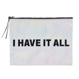 Forever 21 Metallic Makeup Pouch