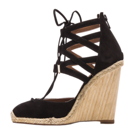 Aquazzura  Suede Wedge Espadrilles