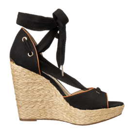 Michael Michael Kors Canvas And Leather Wedge