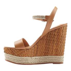 Salvatore Ferragamo Leather Espadrille Wedges
