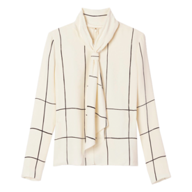 Tory Burch Silk Bow Top