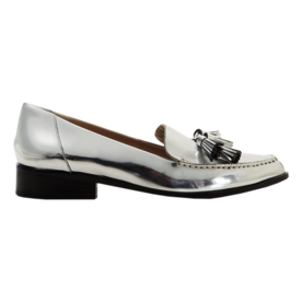 French Connection Metallic Tassel Loafers