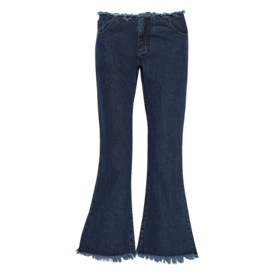 Marques Almeida Cropped frayed low-rise flared jeans