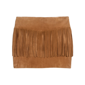 Fringed Suede Skirt