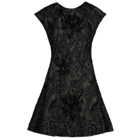 Brocade matelassé dress