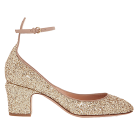 Glitter-finish pumps