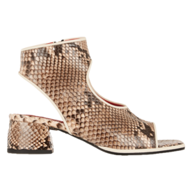 Marni Cutout glossed-python sandals