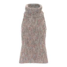 Tweed Knit Turtleneck
