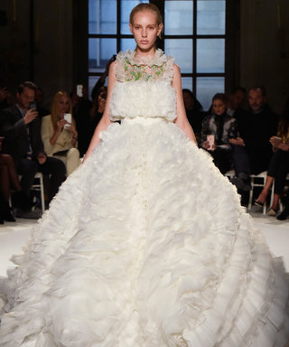 PARIS, FRANCE - JANUARY 23: A model walks the runway at the Giambattista Valli Spring Summer 2017 fashion show during Paris Haute Couture Fashion Week on January 23, 2017 in Paris, France. (Photo by Catwalking/Getty Images)