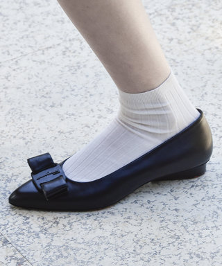 how to wear spring 2020 socks fashion trend, salvatore ferragamo runway, socks and flats