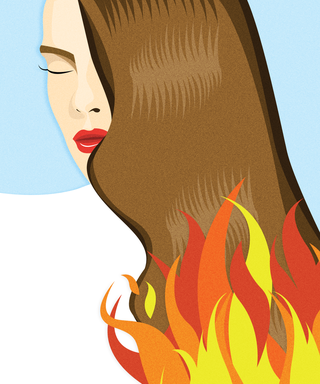 Fire Burning Hair