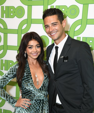 LOS ANGELES, CA - JANUARY 06:  Sarah Hyland (L) and Wells Adams attend HBO's Official Golden Globe Awards After Party at Circa 55 Restaurant on January 6, 2019 in Los Angeles, California.  (Photo by Presley Ann/Getty Images)