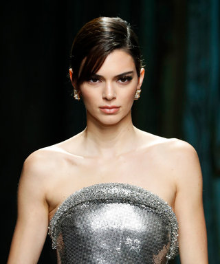 Kendall Jenner Versace Fall 2020 MFW - Side Swept Bangs