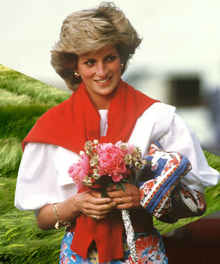 Princess Diana Outfits, Styling Tricks, Knotted Sweater and Floral Skirt